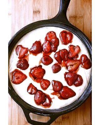 Strawberry Buttermilk Cake  #castironcooking #castironfreaks #castiron #castironcookware #cookware #cooking #kitchentools #castironpans  Yummery - best recipes. Follow Us! #kitchentools #kitchen