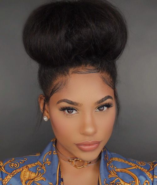 Pin On Bun Hairstyles Bun Hairstyle Ideas For Curly Natural Hair