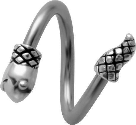 18 Gauge Spiral Helix Earring 5pcs Ball Surgical Steel ...