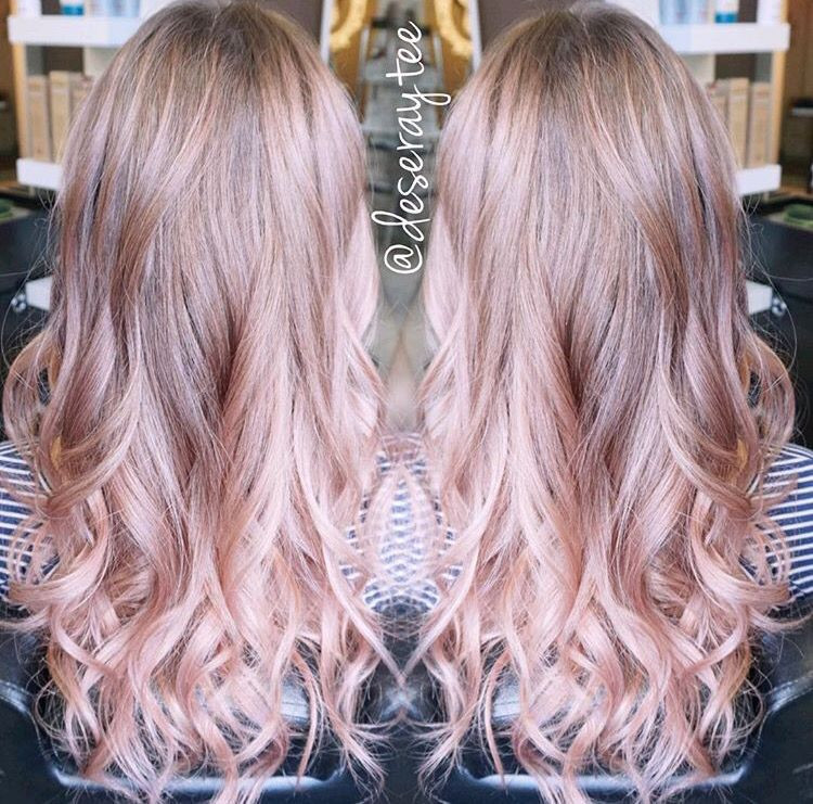 Love The Soft Pink On The Ends Dusty Rose Hair Balayage Hair Blonde Balayage Hair Blonde Long