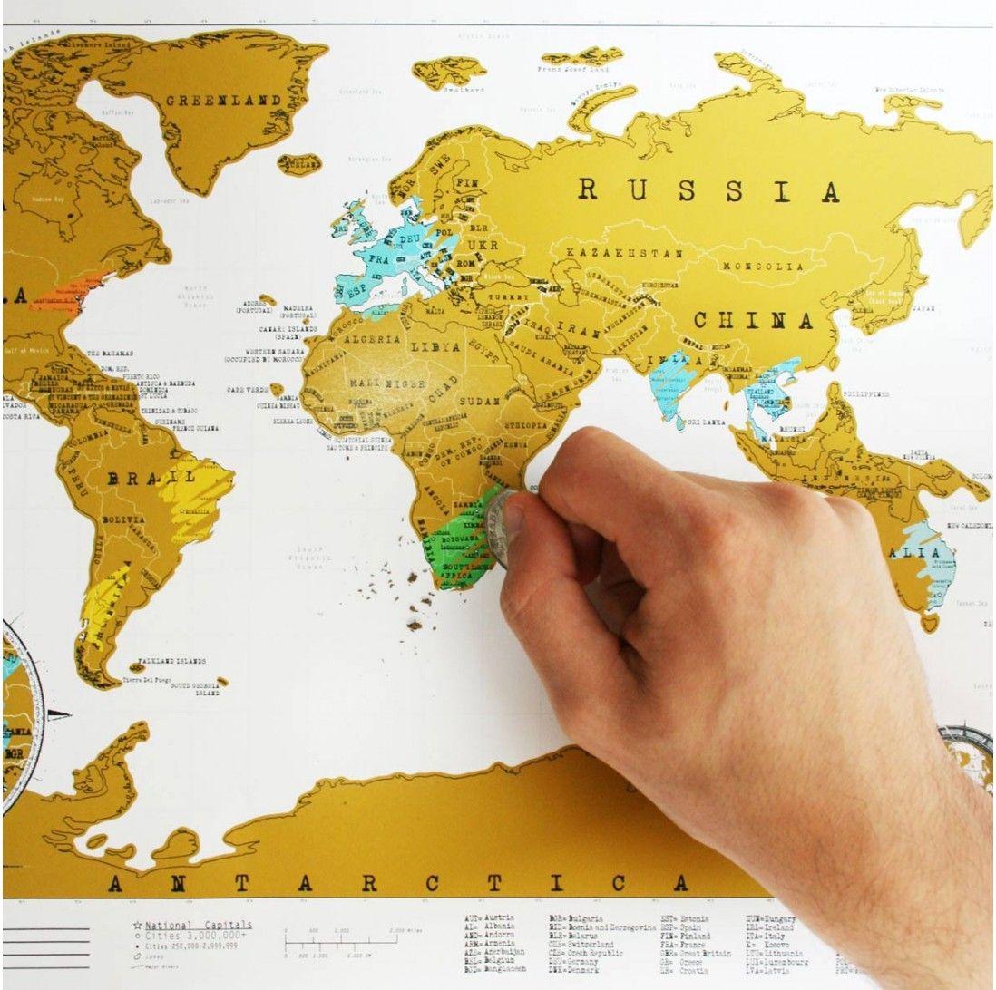 Carte Du Monde à Gratter édition De Voyage Cadeaux Folies Carte Du Monde Cadeaux Voyage Carte Voyage