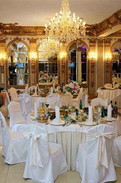 AMAZING Beauty and the Beast themed wedding-LOVE the room (the walls/windows, chandelier, the gold but that is all (nothing else hits my fancy