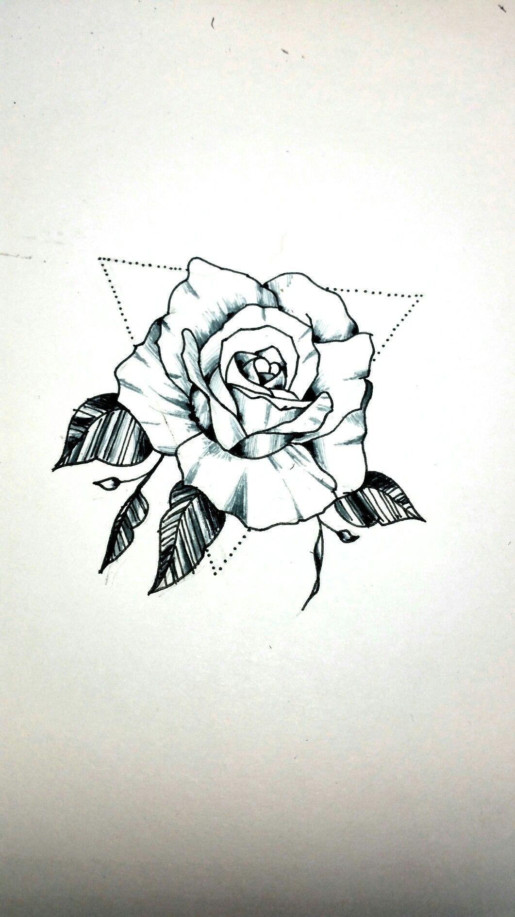 Rose Desing Tattoo Rosas Pretas Tatoo Tattoo Foto