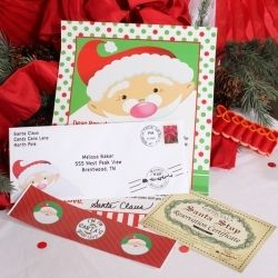 Christmas Polka Dot Santa Letter. Your kids can get a personal letter from Santa Claus! Add your own personalization, and they'll print and mail the letter for you.
