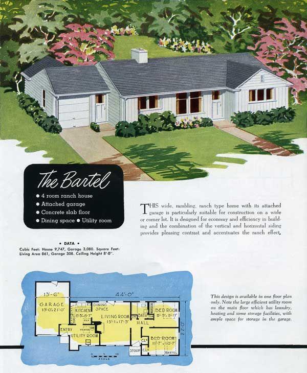 1949 national homes: the bartel | vintage house plans~1940s