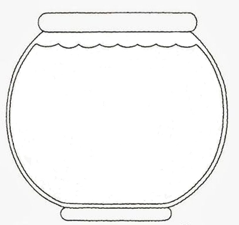 Blank aquarium coloring page coloring pages for Empty fish bowl coloring page