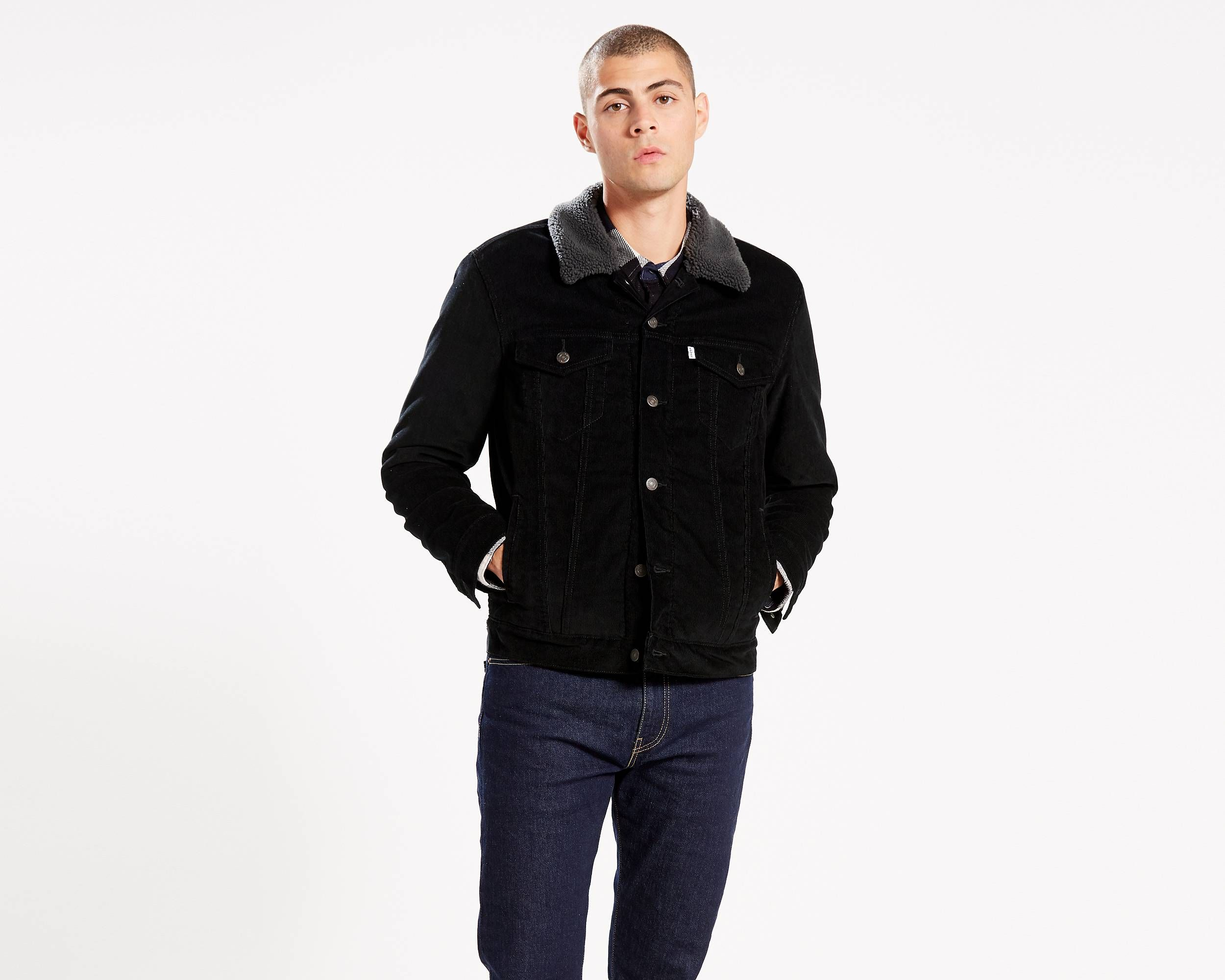 Sherpa Trucker Jacket Black Levi's® US Jackets