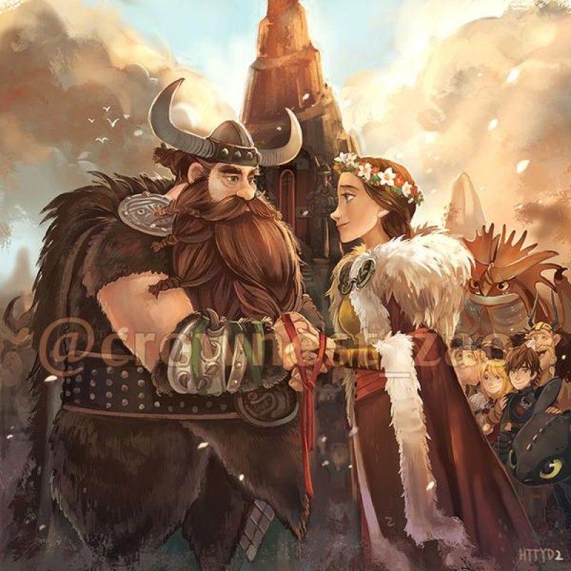 Dessins fanart Dragons, La Reine Des Neiges, Vice-Versa, etc ... < Stoick and Valka. :)<< if he lived
