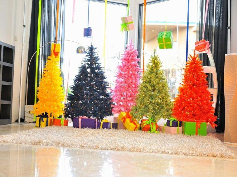 arbol navidad precioso distintos colores artificial ideas - Arbol Navidad Artificial