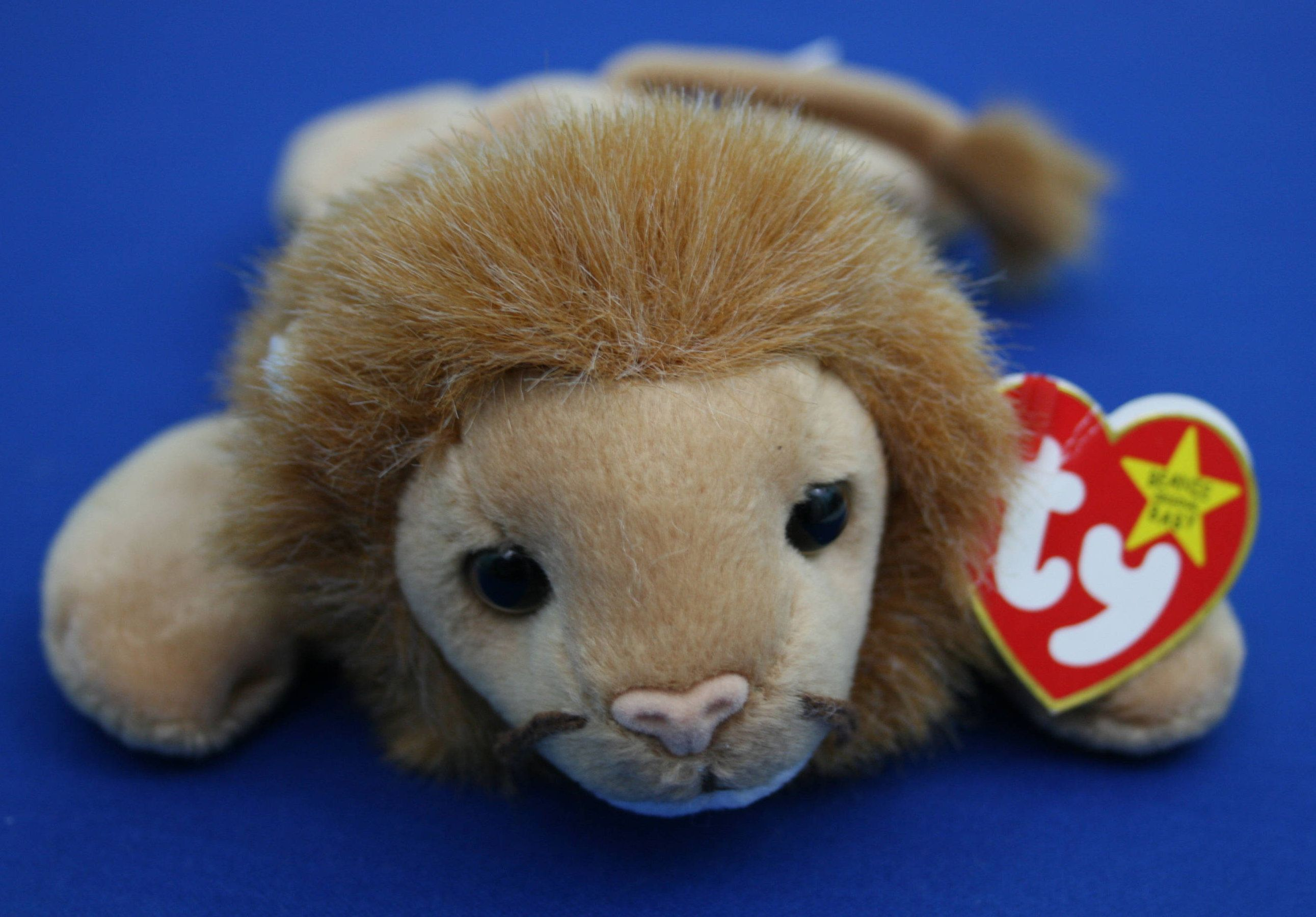 b5e37f06f91 Vintage Ty Beanie Baby Roary the Lion Beanie Baby with 2 production errors  by CuriosandAntiques on Etsy