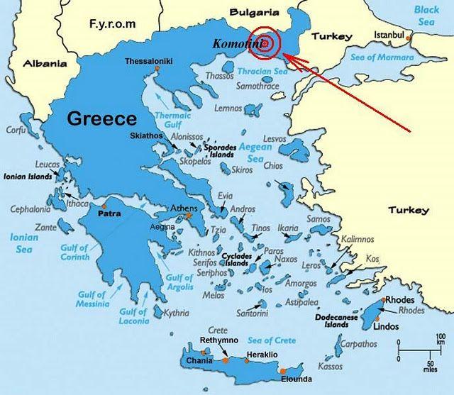 Komotini Greece Griechische Inseln Karte Griechische Inseln
