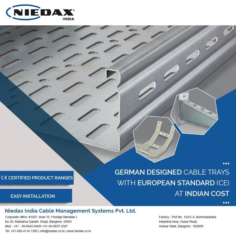 Niedax India Cable Management Systems Pvt Ltd Supplies Complete Cms Solutions For A Wide Range Of Ceili Cable Management System Floor Installation Cable Tray