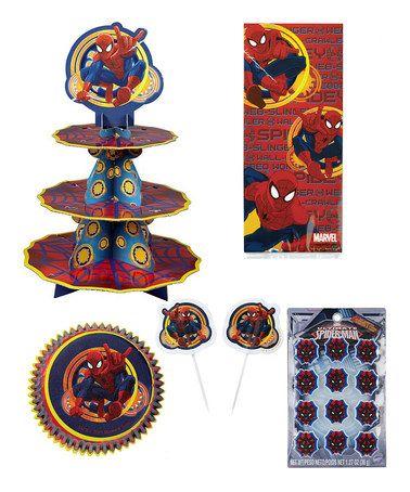 This Spider-Man Birthday Decoration Set is perfect! #zulilyfinds