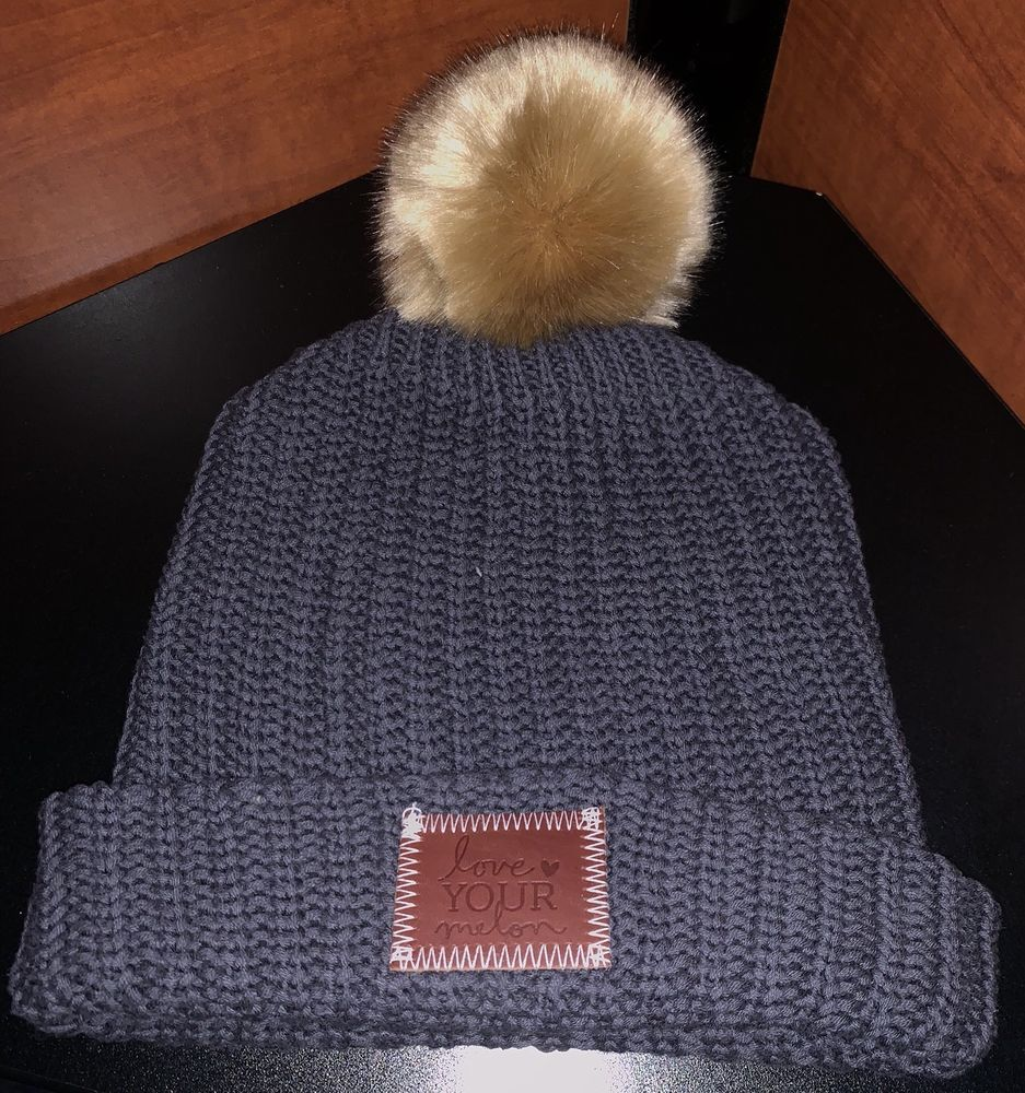 Love Your Melon Beanie Hat Charcoal Grey With Natural Pom BRAND NEW   fashion  clothing  shoes  accessories  unisexclothingshoesaccs   unisexaccessories (ebay ... d99d6880cf9