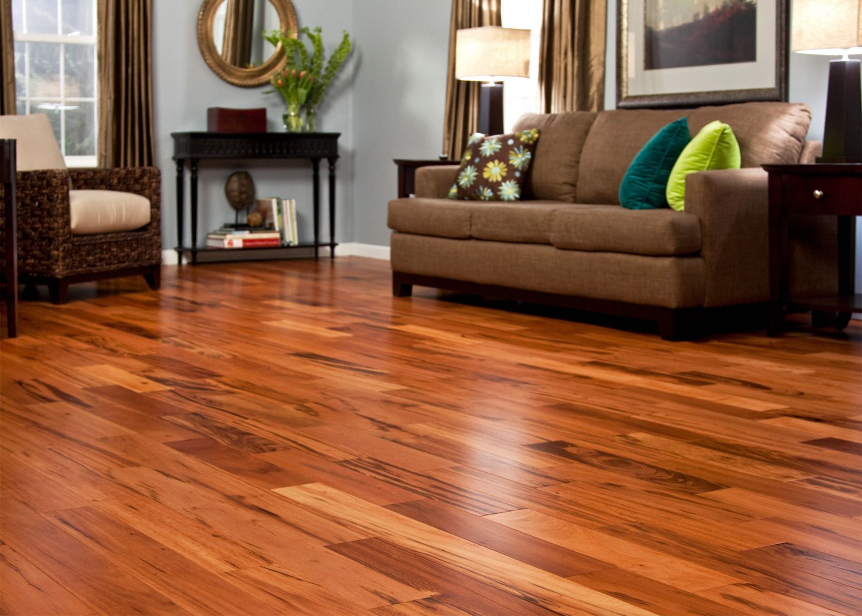 7 16 X 4 3 4 Brazilian Koa Quick Clic Engineered Schon Quick Clic Engineered Flooring Hardwood Floors Small Basement Remodel