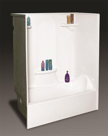 Captivating Acryllus One Piece Acryllic Tub And Shower   Girlsu0027 Bathroom