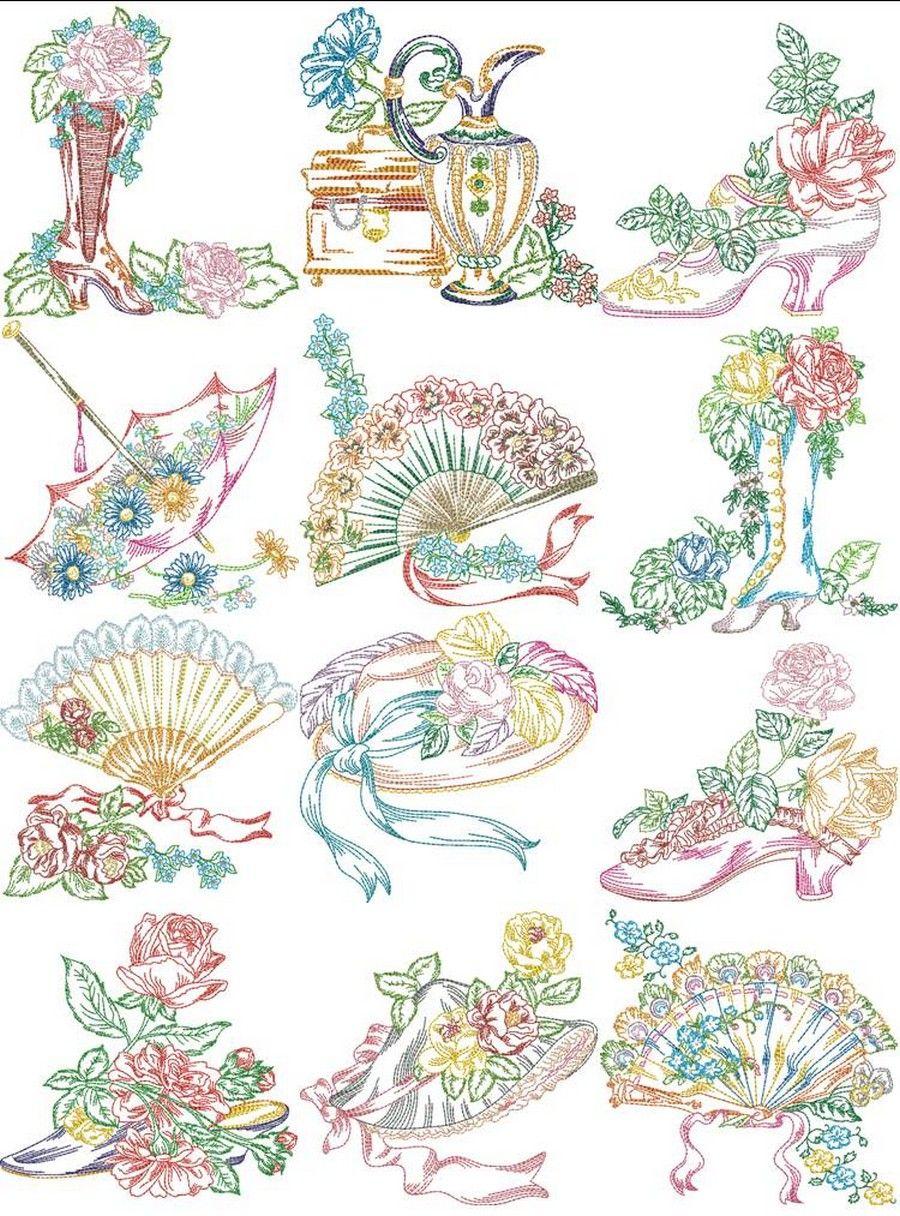 Victorian Ladies Accessories   Pinterest   Cromos, Bordado y Vestiditos