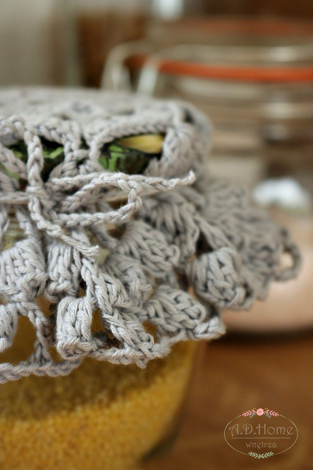 Serwetki Szydełkowe Serwetki Na Słoiki Crochet Hand Made