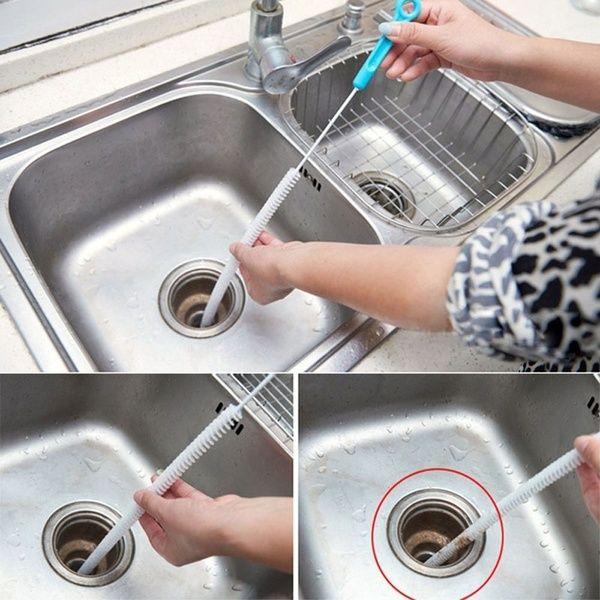 71cm Flexible Bendable Drain Unblocker Bathroom Shower Cleaner Cleaner Brush Kitchen Tool Hair Removal Brush Cleaner Cleaning Shower Cleaner