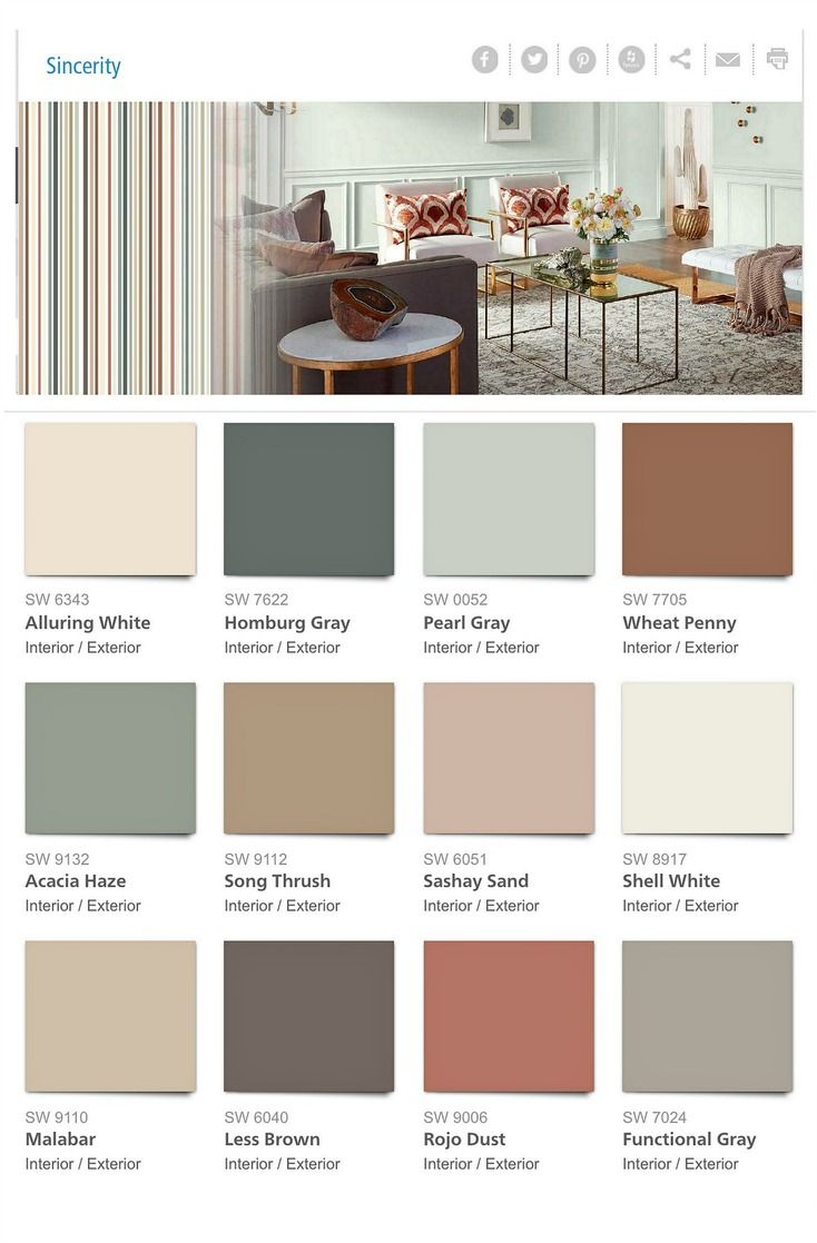 2018 paint color trends and forecasts house decorating for Color palettes for home interior