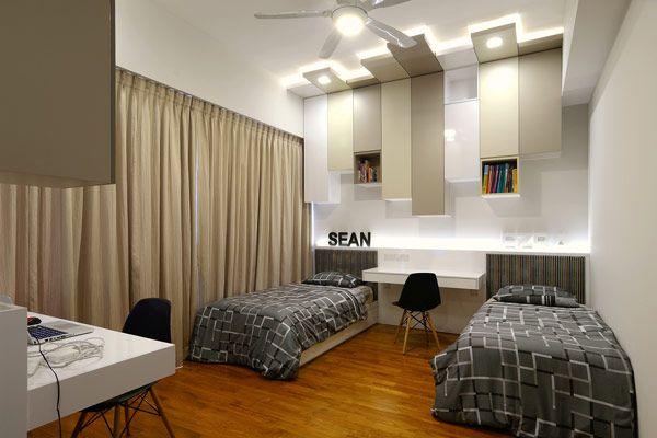 Bedroom Ideas Singapore striking four-level terrace house in singaporeknq associates