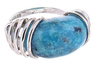 Sterling Silver and Turquoise Jewelry Southwestern Ring Size 8 YS60917