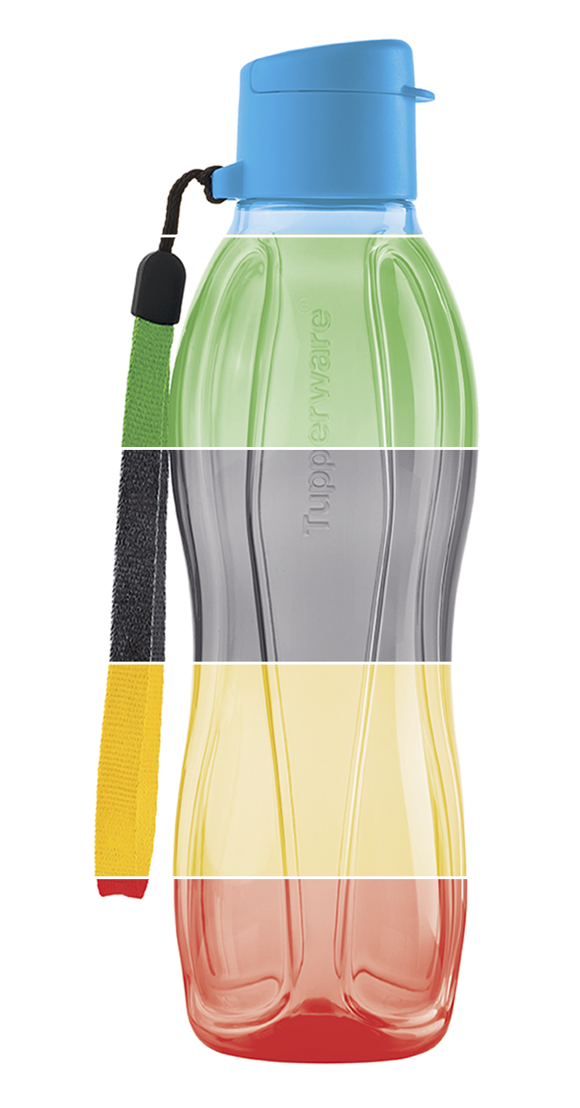 Small Eco Water Bottle Plus Strap Your Choice Of Azure Prairie Black Sunflower Or Fire Available Through July 29 Tupperware Tupperware Consultant Bottle
