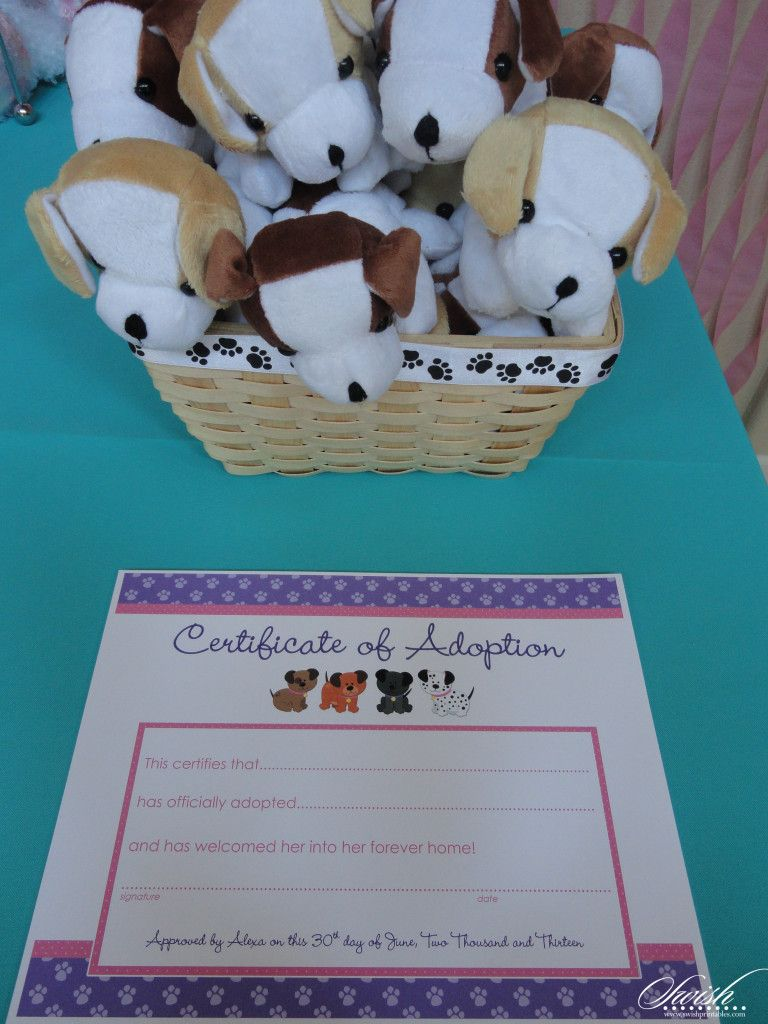 Puppy adoption party puppy paw ty puppy pawty printables by what a cute idea for an adoption party puppy adoption party puppy paw ty puppy pawty printables by swish certificate xflitez Gallery
