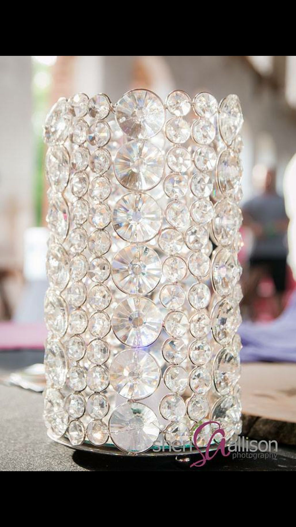 Gorgeous crystal centerpieces available with Elegant and Classy events in NC and SC www.elegantandclassyevents.com Elegant wedding