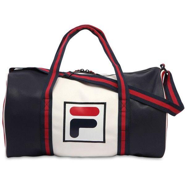 217722f161 Fila Urban Men Color Block Logo Faux Leather Duffle Bag (3