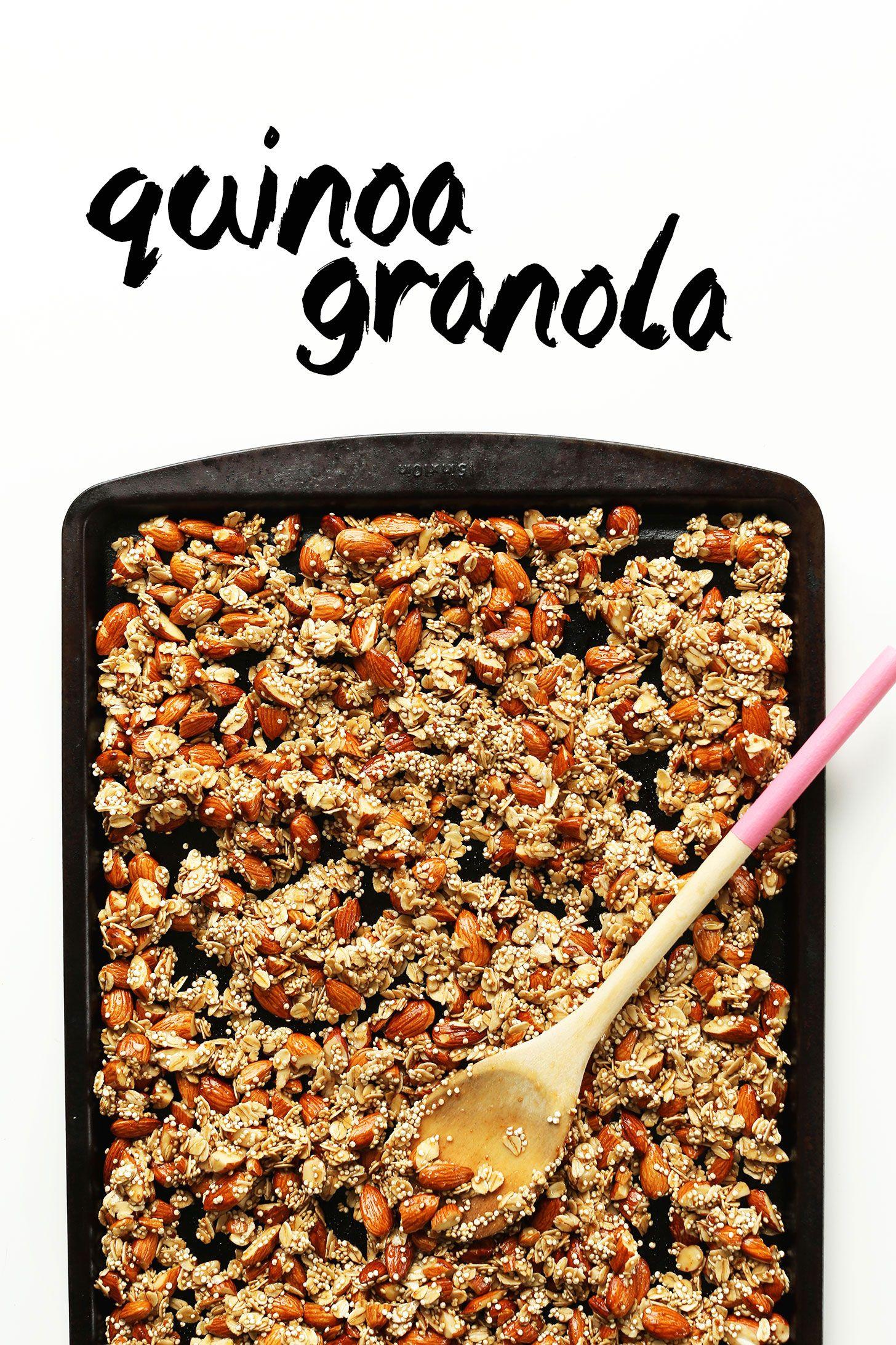 Simple Quinoa Granola Minimalist Baker Recipes Recipe Quinoa Granola Granola Recipes Granola