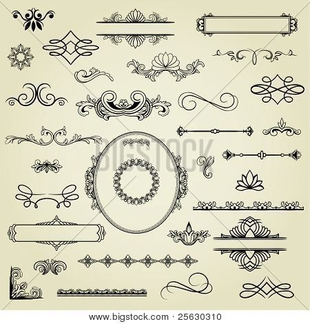 Lots of design elements labels, borders, frames, etc Could be used - new certificate vector free