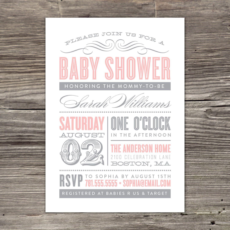 Old Fashioned Baby Shower Invitation 2000 via