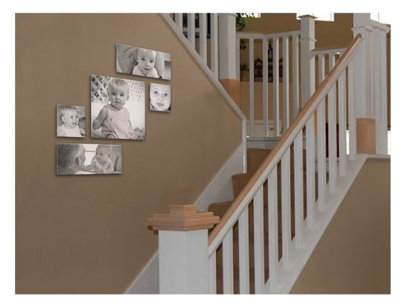 Canvas cluster for stairs