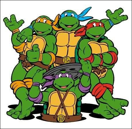Happy Birthday Ninja Turtles With Bday Cake Birthday Wishes