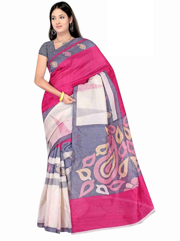 c8ef84bff7103 Winza Women s Cotton Saree (Exclusive ethnic desi art silk cotton bolly  fancy