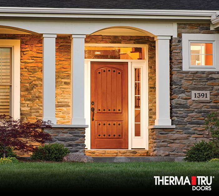 Therma tru classic craft rustic collection fiberglass door for Therma tru fiberglass entry doors prices