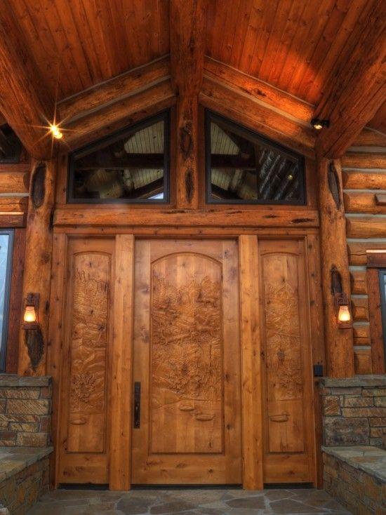 Custom Doors Log Homes Rustic Entry Custom Door