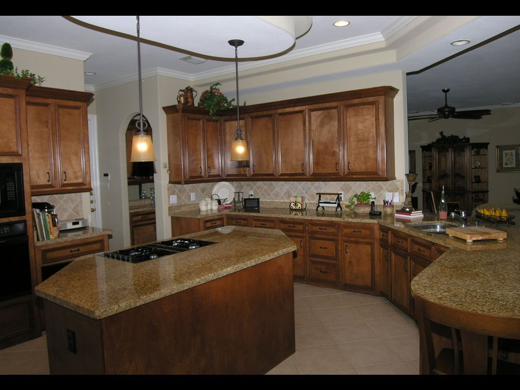 kitchens with island and tile floor | Island Kitchen also ...