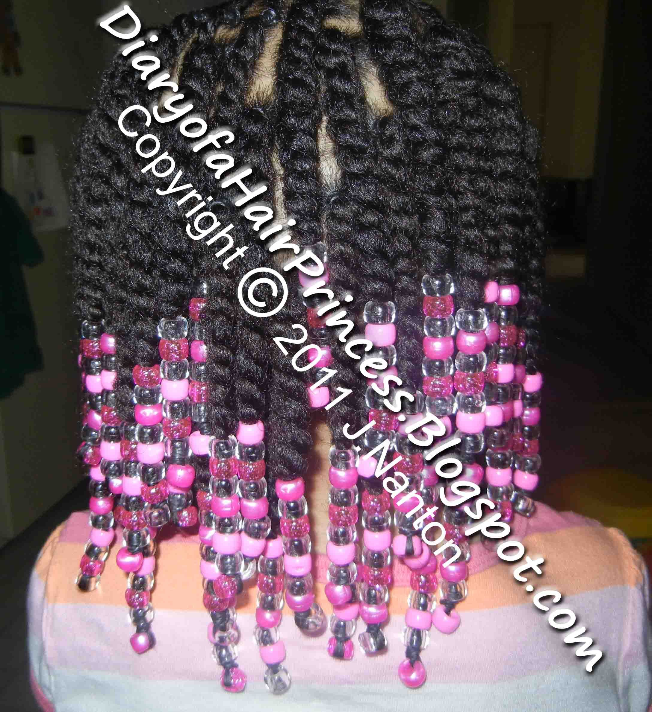 Two Strand Twist With Beads Back Twist Hair Styles