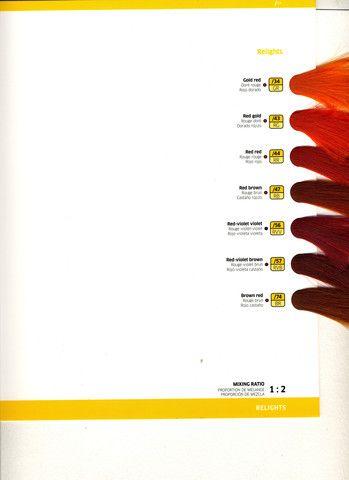 Wella Color Charm Demi Permanent Haircolor Shade Palette Additives Toners Wella Color Charm Hair Color Chart Wella Color Charm Chart