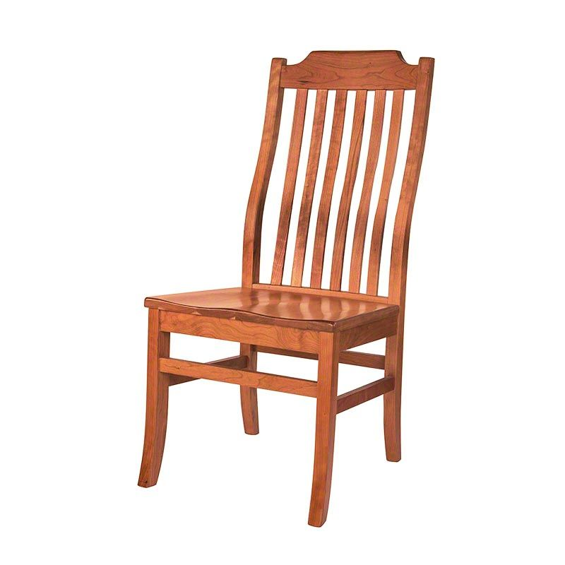 The Lumbar Support In Its Gently Curved Back Gives This American Mission Dining Chair An Ergonomic Chair Cheap Dining Room Chairs Shabby Chic Table And Chairs