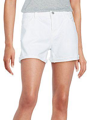 Joanie Rolled Boyfriend Shorts - SaksOff5th