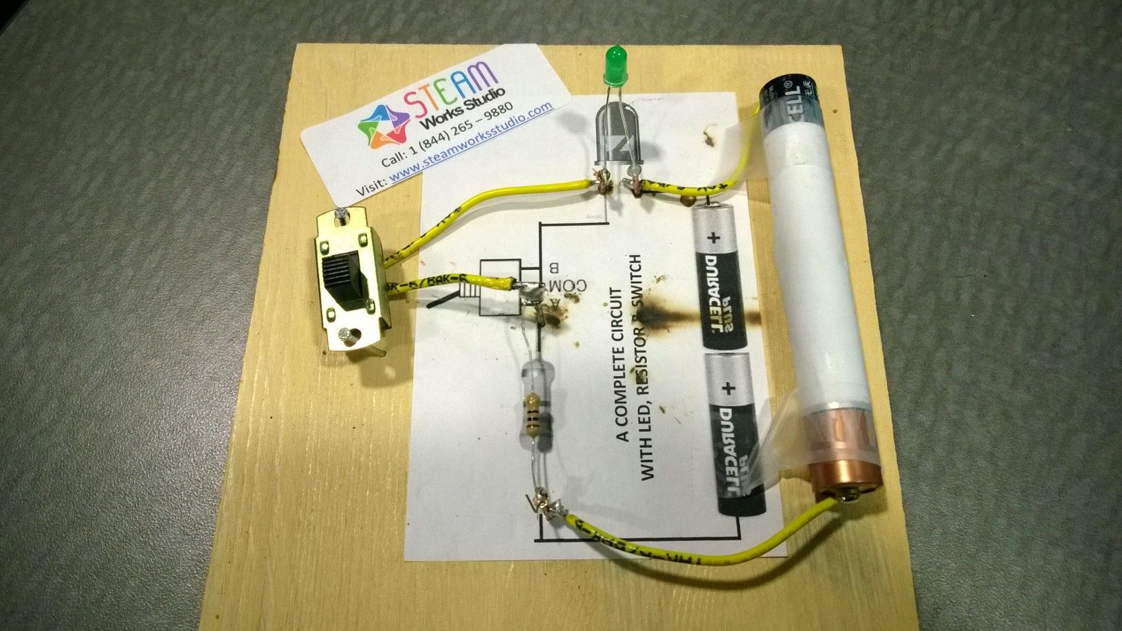 Student Circuit Switch Great Installation Of Wiring Diagram Components Symbols Electronics Pinterest A Made Simple Incorporating 3 Led Rh Com Transistor