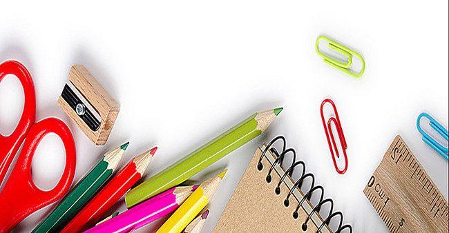تنفيذ الكتابة قلم رصاص تلوين أقلام الرصاص الخلفية School Supplies Poster Vector Free