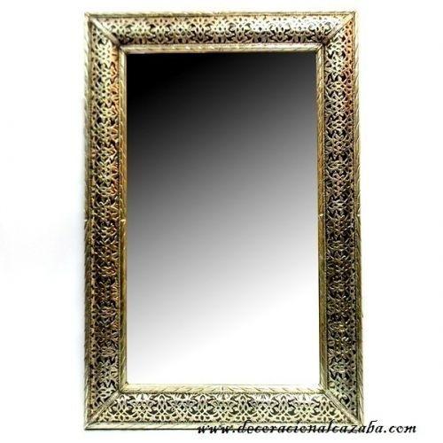 Acheter en ligne miroir rectangulaire en bois avec nickel for Acheter miroir
