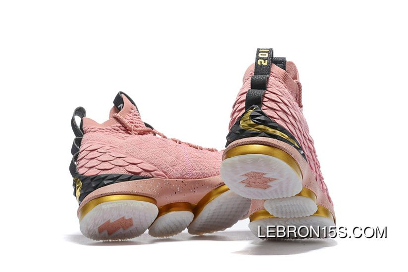 5565da12358a5 Nike LeBron 15 All-Star 897650-600 Mens Basketball Shoes Rust Pink Metallic  Gold-Black Discount