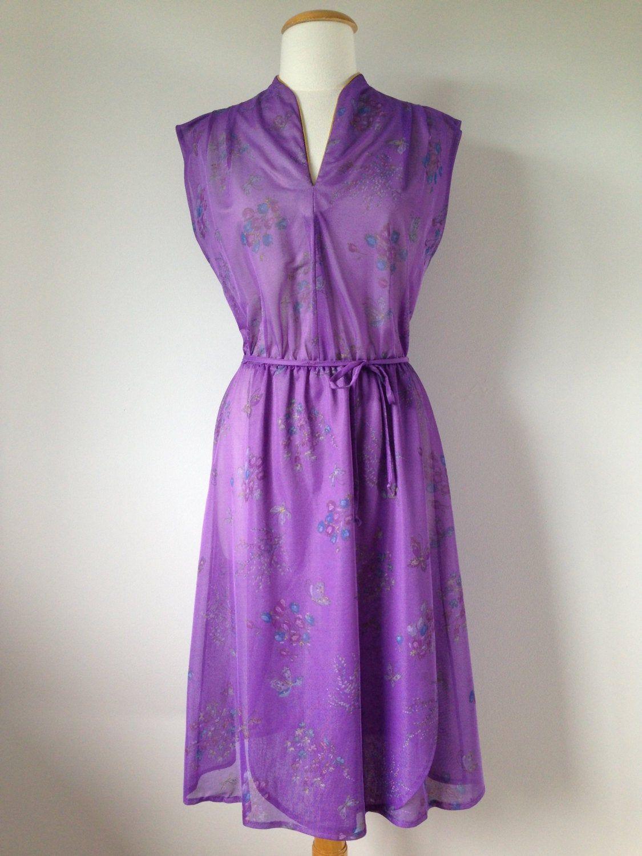 Light Purple Vintage Dress Floral Butterfly Patterned 80s Etsy Vintage Dress 80s Vintage Purple Dress Evening Dresses Vintage [ 1500 x 1125 Pixel ]