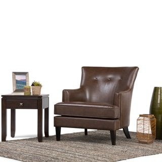 shop for wyndenhall london distressed brown faux air leather club