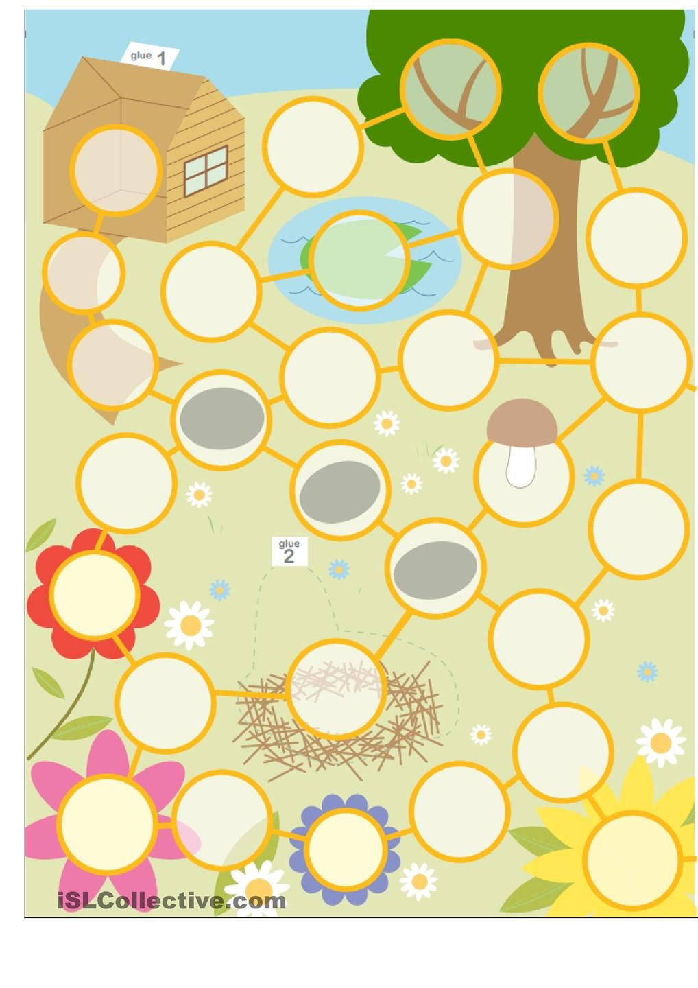 Easter Egg Hunt Board Game | EASTER CRAFTS AND CLASS IDEAS | Pinterest